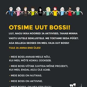 Agentuur Must tööpakkumine Bossile