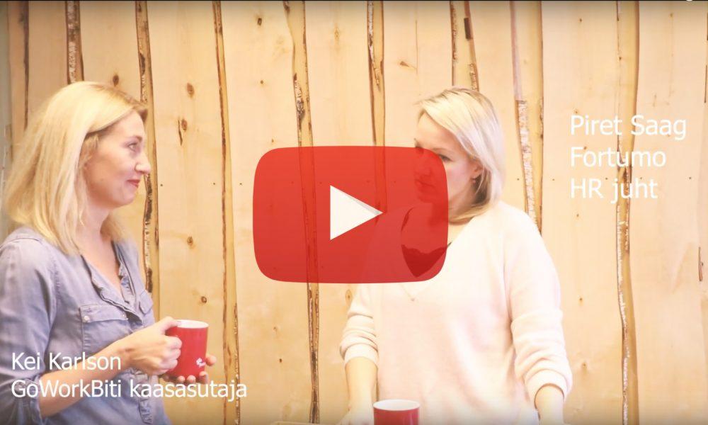 GoWorkaBiti videoblogi: Fortumo personalijuht Piret Saag räägib mentorlusest ja coachingust